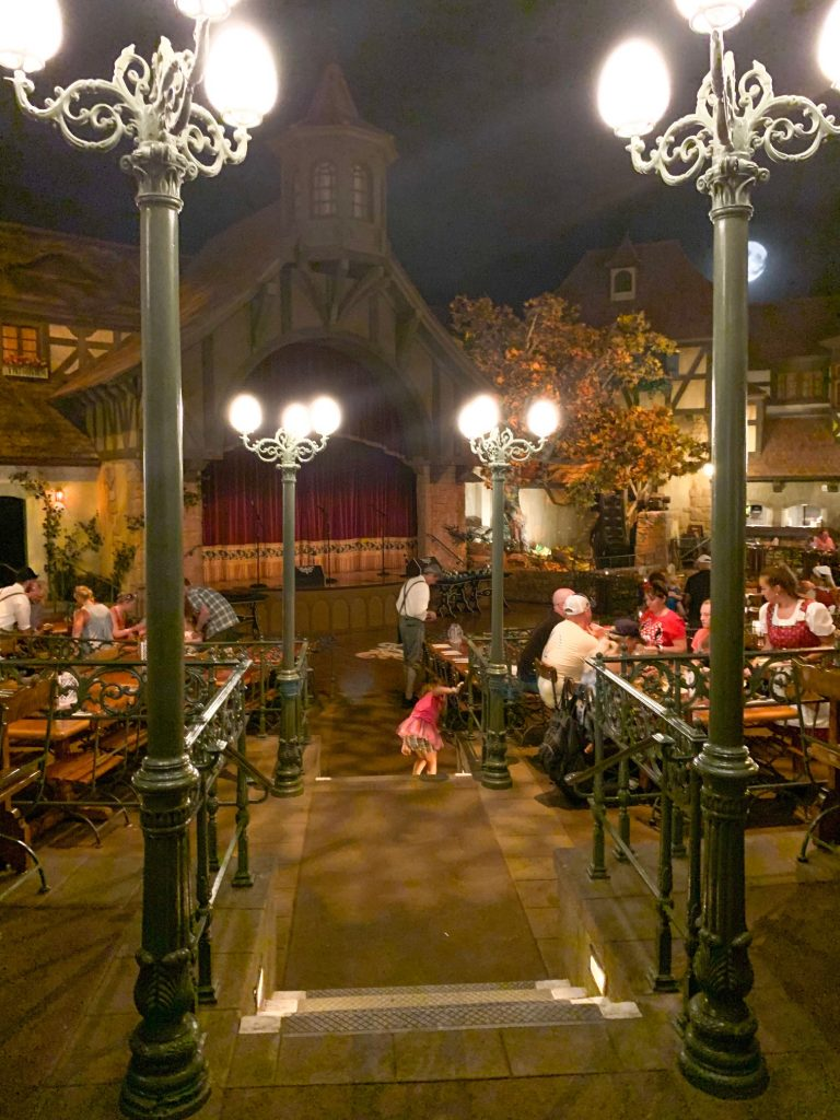 Inside of Germany dining at Epcot