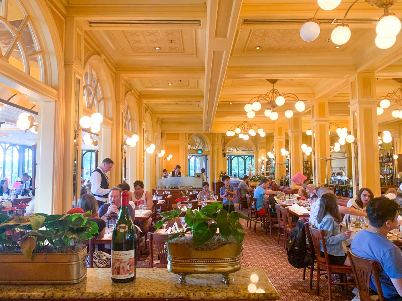 Inside of Le Chefs De France one of the best epcot restaurants