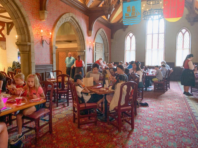 Princess dining at Epcot inside