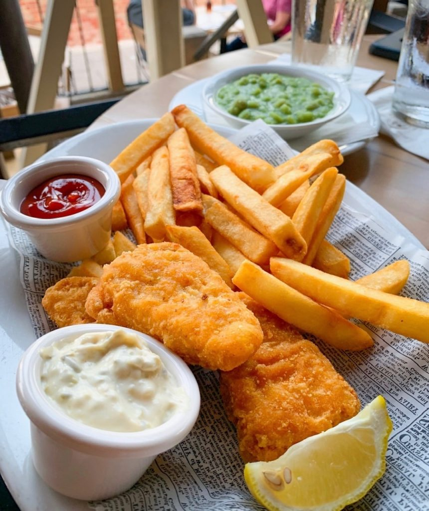 Fish and chips is some of the best food at Epcot