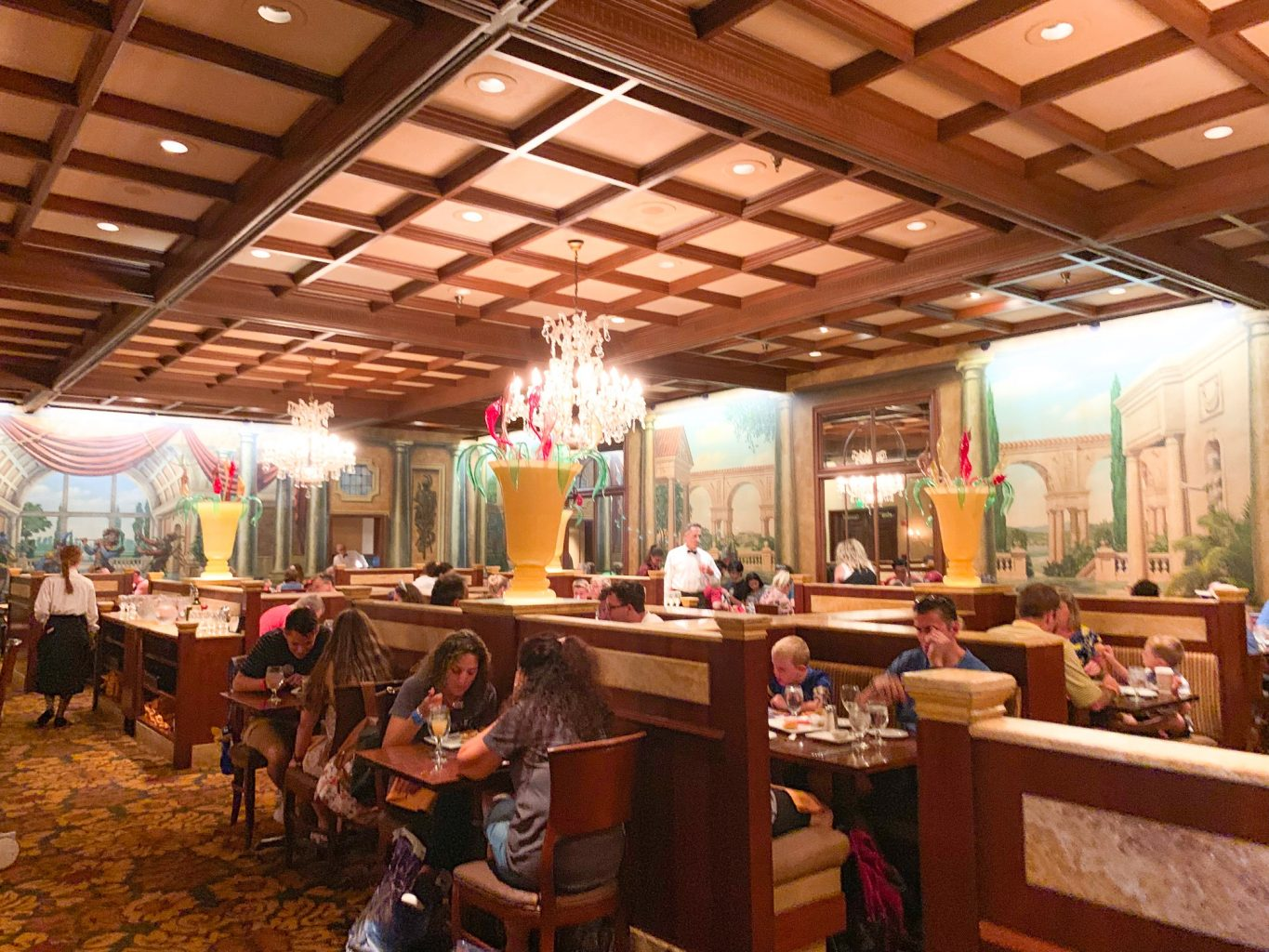 Inside of Italian at Epcot