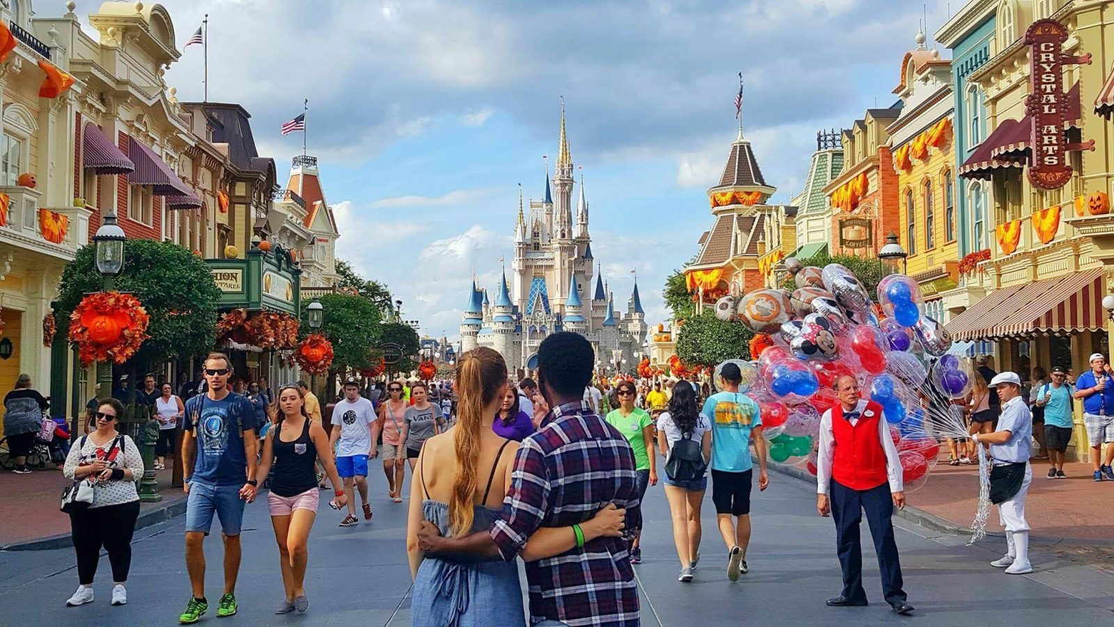 Couple at Disney World In Magic Kingdom