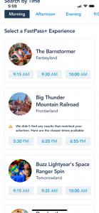 fast passes at Disney