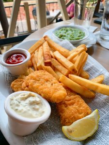 Vegan Fish and chips which you can eat at Disney's Epcot