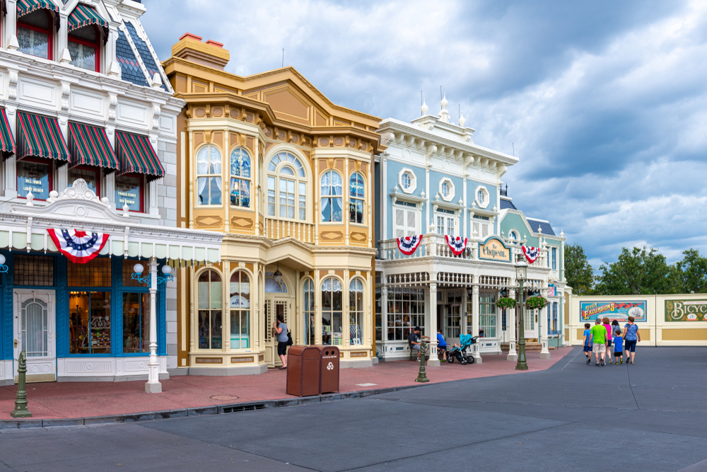 Photo of empty street you could experience by using our Disney World Crowd Calendar