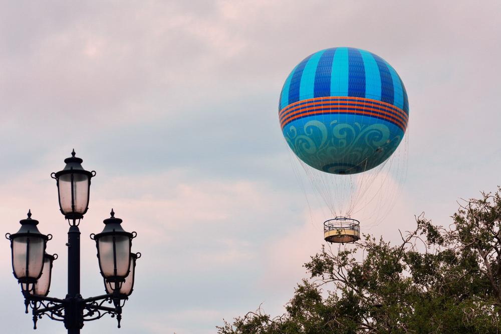 Photo of hot air balloon at Disney World.