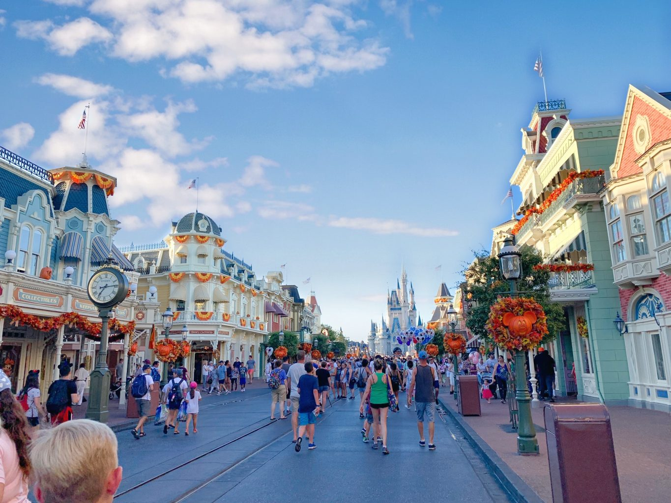 Photo of crowded streets that will not be so crowded if you use our Disney World Crowd Calendar wisely.