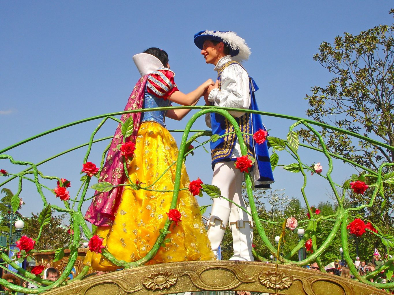 You can meet some of your favorite characters like Snow White and her prince at Disney!