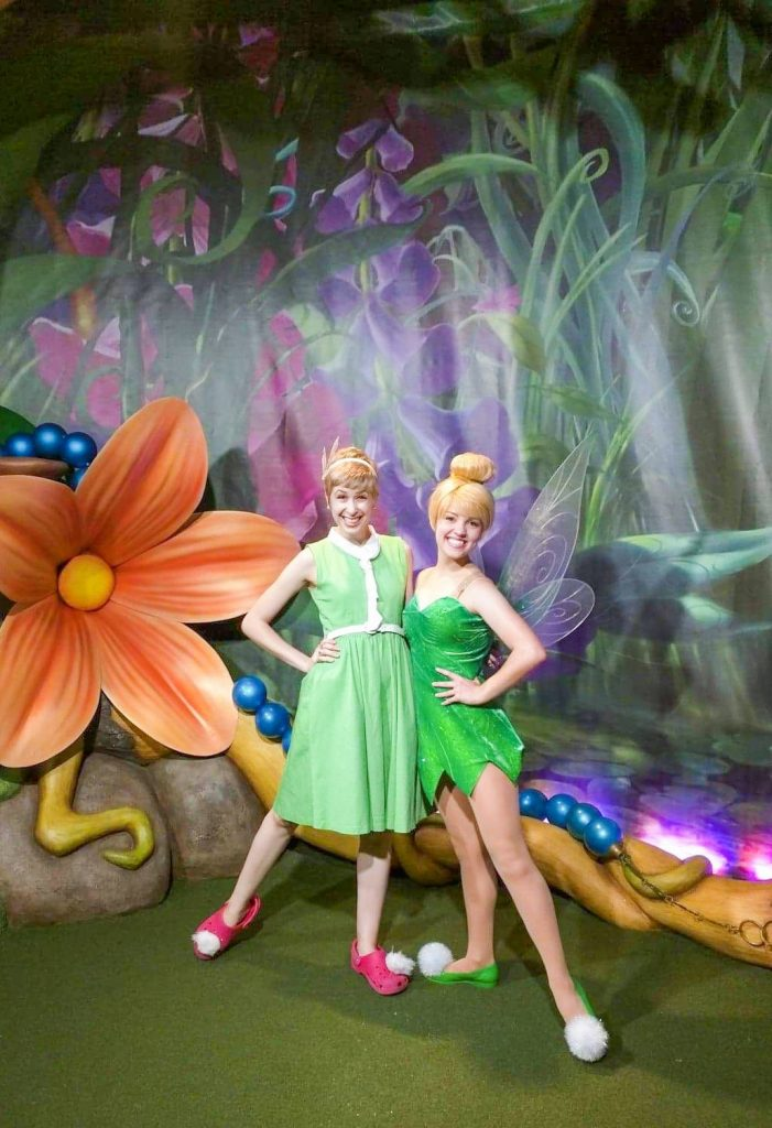 Cute and easy Tinkerbell Disneybound outfit idea