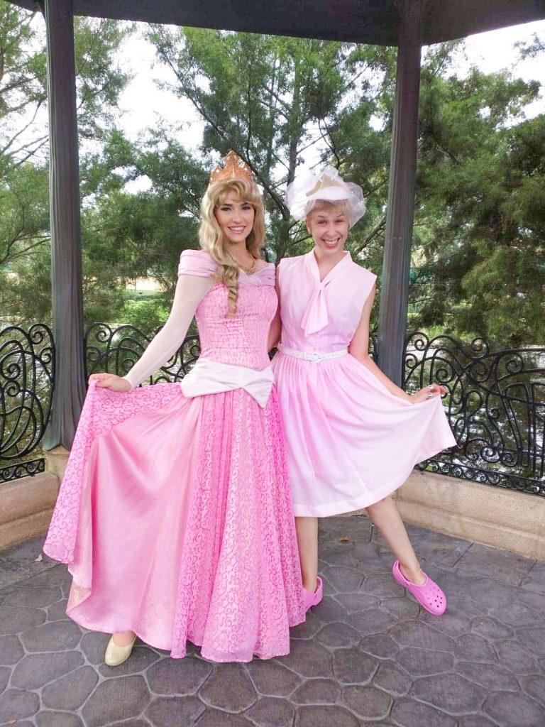 Cute pink Sleeping Beauty Disneybound