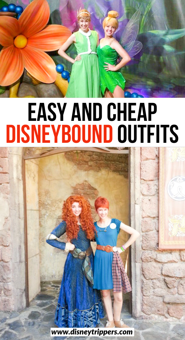 Easy And Cheap Disneybound Outfits | 12 Creative And Easy Disneybound Outfits For Women | how to Disneybound and what outfits to wear | Meridia Disneybound | Tinkerbell Disneybound | Ariel Disneybound | Belle Disneybound | Disneybounding ideas for women | tips for what to wear to Disney World | Disney packing tips | tips for packing for Disney World #disneybound