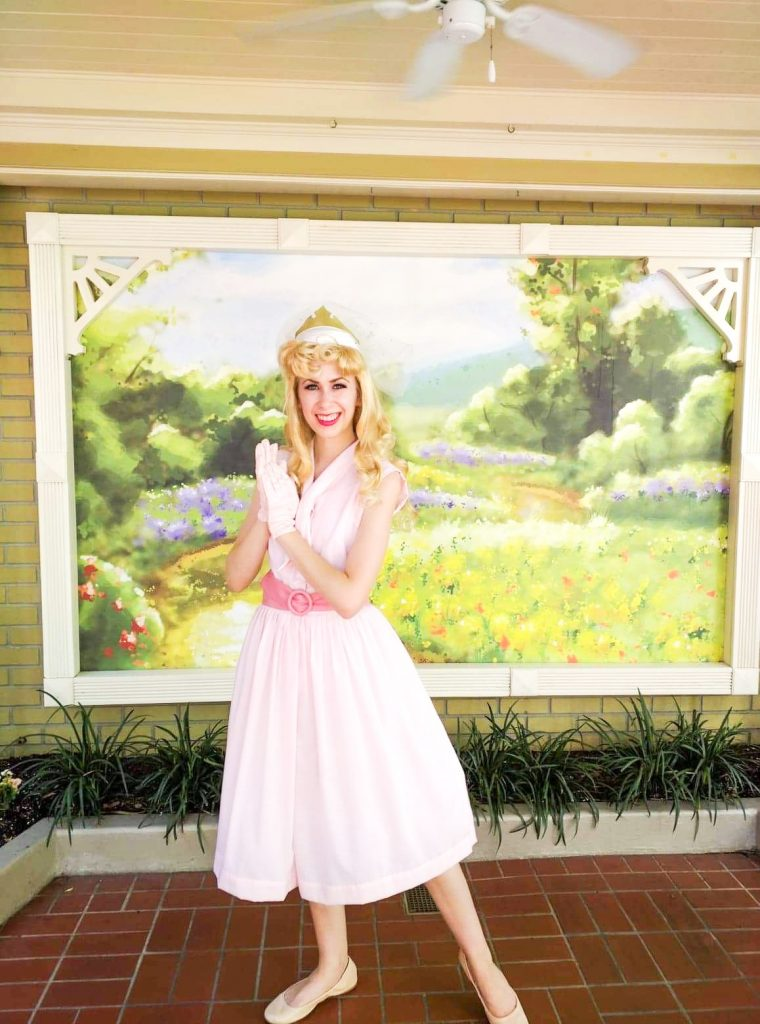 Sleeping Beauty Disneybound with pink dress for Disney