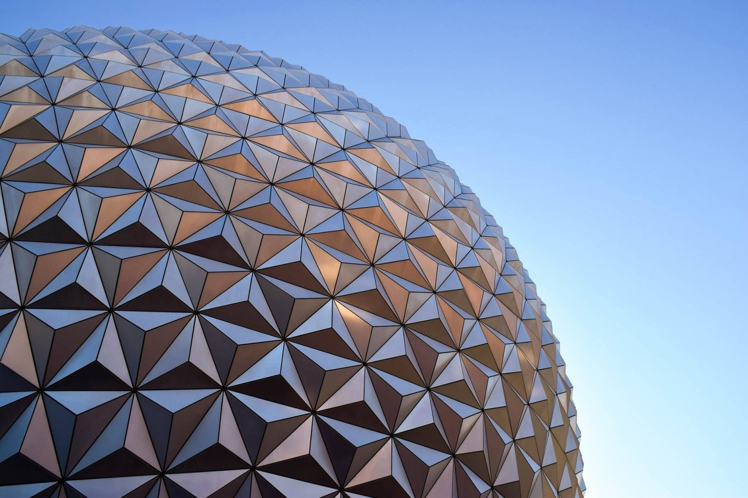 Disney's Epcot globe is so beautiful-- and a fun ride!
