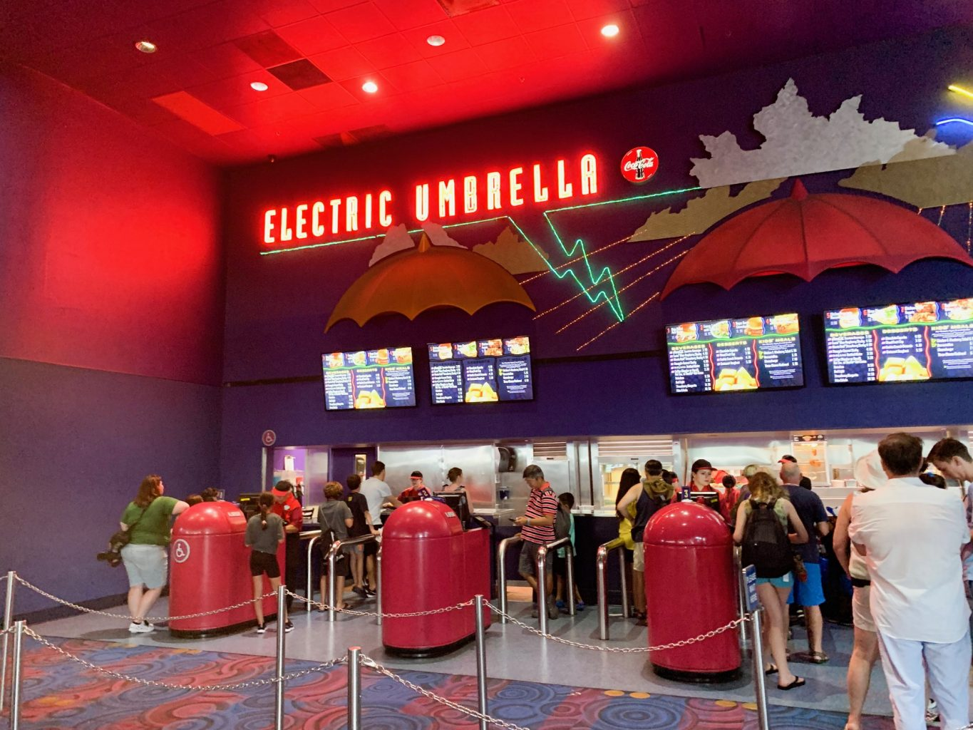 Electric Umbrella Epcot quick service in Innoventions East