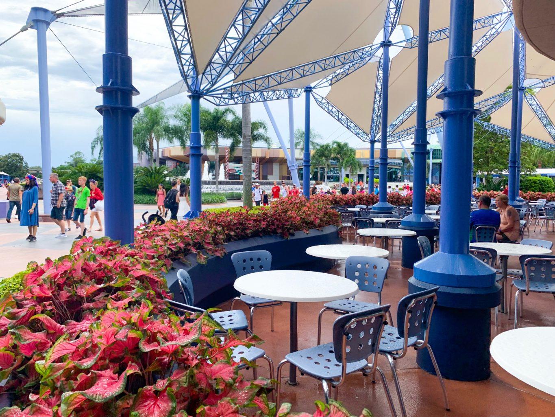 Epcot quick service Electric Umbrella outdoor seating