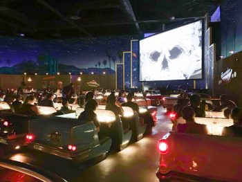 People Sitting in Cars Watching a Scary Movie Hollywood Studios Restaurants
