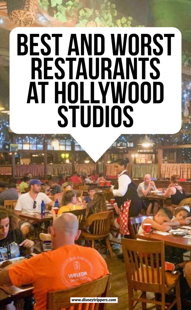 best and worst restaurant at hollywood studios