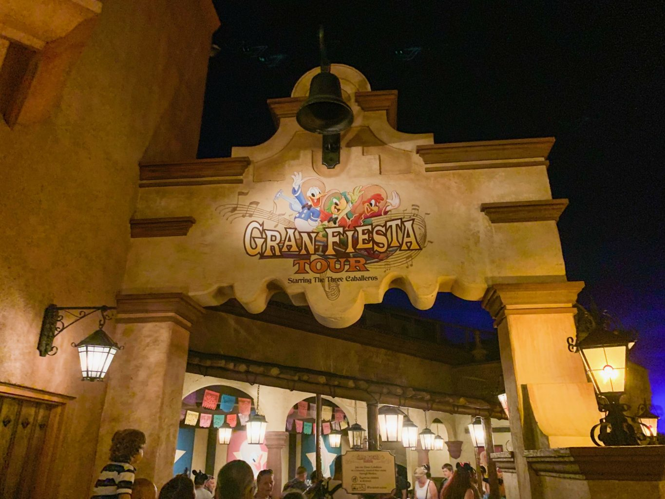 outside of Gran Fiesta ride at Epcot's Mexico pavilion