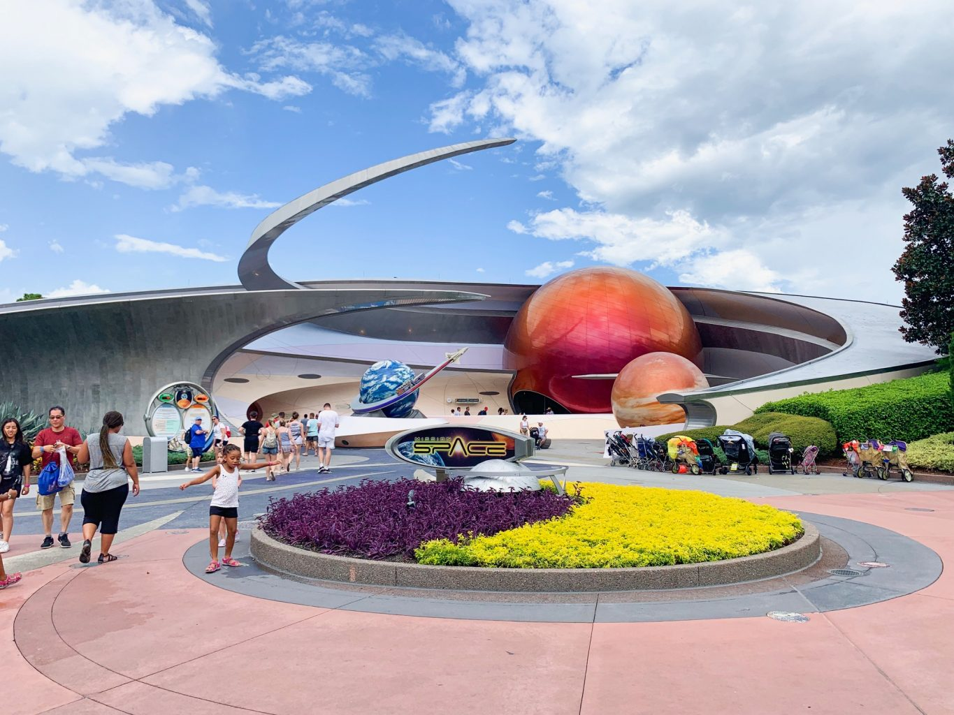 Mission space ride at Epcot