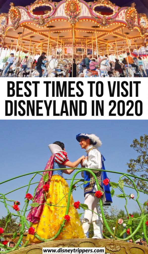 best times to visit disneyland in 2020