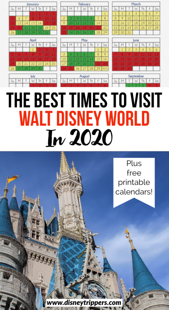 The Best Times To Visit Walt Disney World In 2020 | Disney World Crowd Calendar: Best Time to Go to Disney | how to beat the crowds at Disney | tips for planning a trip to Disney without the crowds | when to plan a Disney vacation | Disney planning tips | Disney travel tips | how to go to Disney without the crowds | Disney in 2020 #disney #disneytips