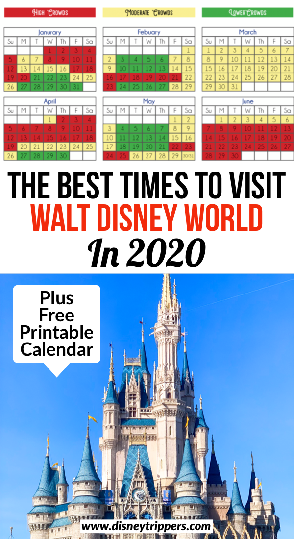 The Best Times To Visit Walt Disney World In 2020 | Disney World Crowd Calendar: Best Time to Go to Disney | how to avoid crowds at disney World | tips for visiting Disney World without the crowds | Disney world travel tips | how to plan a disney world vacation | tips for shorter lines at disney World | Disney world crowd calendar for 2020 #disneyworld
