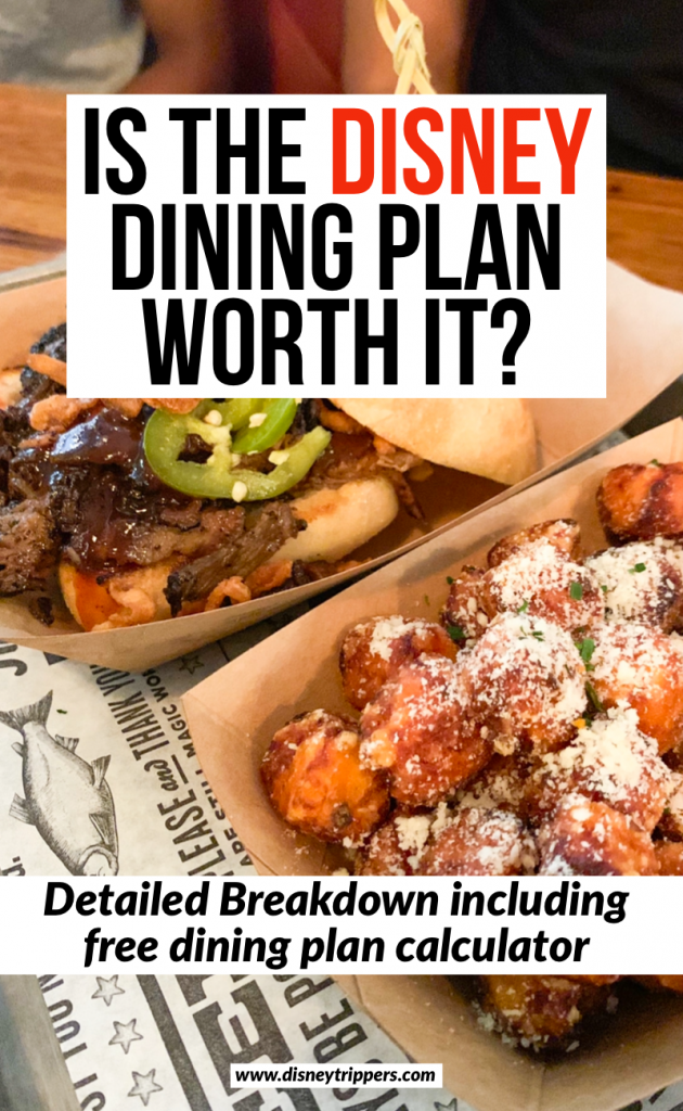 Is the Disney Dining Plan Worth It? | how to use the Disney dining plan | best things to eat on the Disney dining plan | Disney dining plan tips and tricks | The Easiest Disney Dining Plan Calculator Anyone Can Use | tips for eating at Disney on the dining plan | free things at Disney | disney planning tips #disneydining #disney #disneytravel