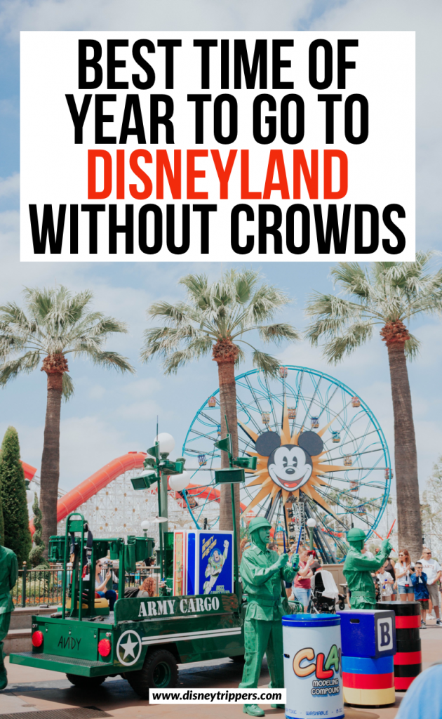 Best Time Of Year To Go To Disneyland Without The Crowds | Disneyland Crowd Calendar | best time to go to Disneyland California | when to go Disneyland | Most crowded time of the year at Disneyland | Disneyland travel tips | how to plan a trip to Disneyland #disneyland #disneytips