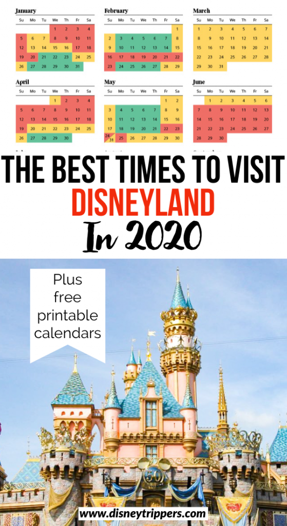 The Best Times To Go To Disneyland In 2020 | Disneyland Crowd Calendar: Best Time To Go To Disneyland | Disneyland travel tips | how to avoid crowds at Disneyland | tips for visiting Disneyland without crowds | planning a Disneyland Vacation | best time of year to visit Disneyland | Disneyland vacation tips #disneyland #disney #disneytips
