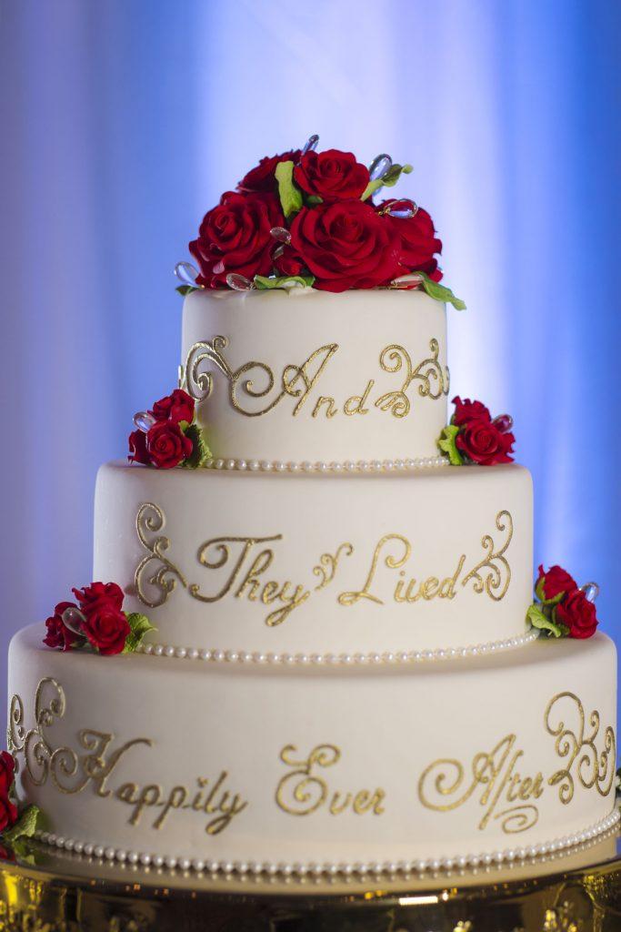 Photo of wedding cake.