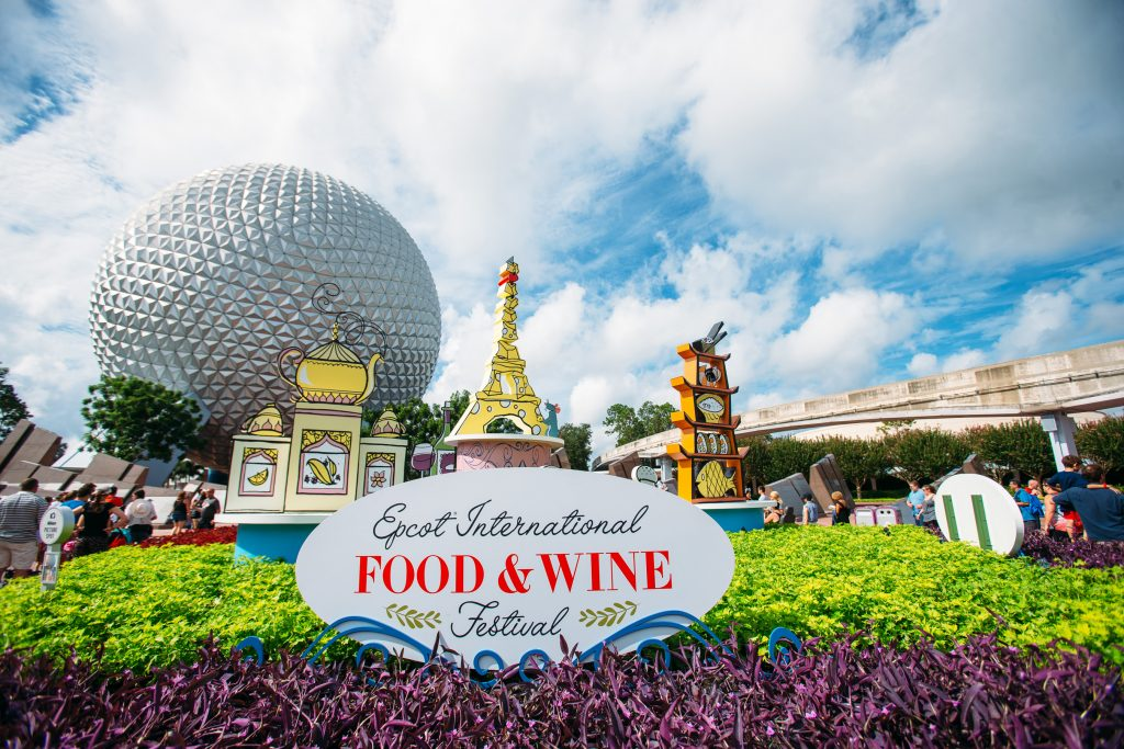 Photo of entrance to Food and Wine Festival, a great experience for your Disney honeymoon