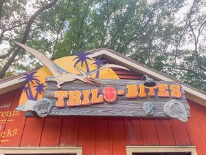 trilo-bites sign with pterodactyl Animal Kingdom restaurants