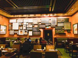 art-filled walls of Tiffins animal Kingdom restaurants