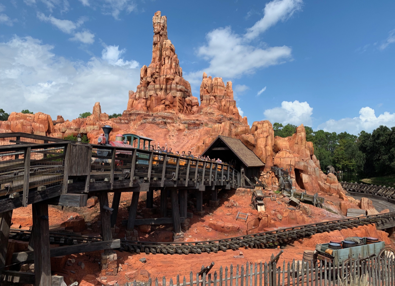 The iconic Big Thunder Mountain ride, one of the best Magical Kingdom rides and sights.