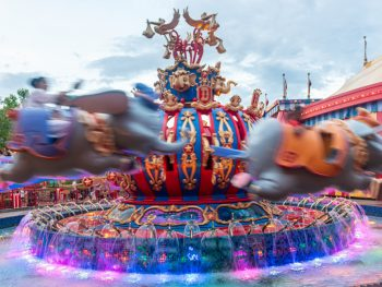 Magic Kingdom's Dumbo the Flying Elephant ride, in motion
