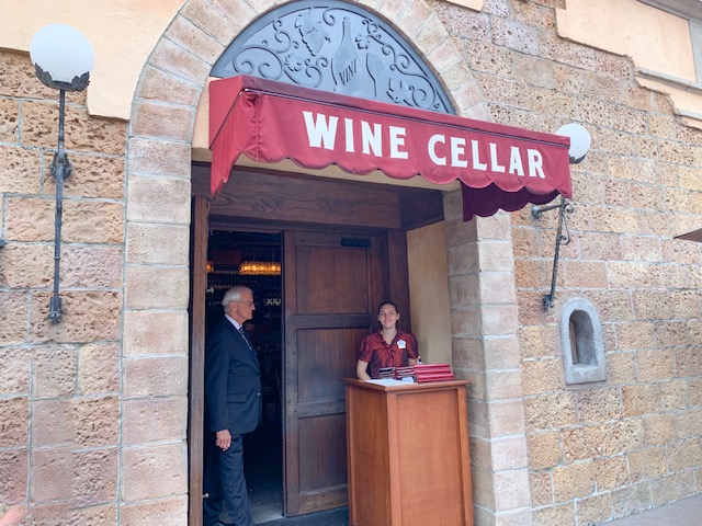 Italy Pavilion in Epcot World Showcase exterior of wine cellar