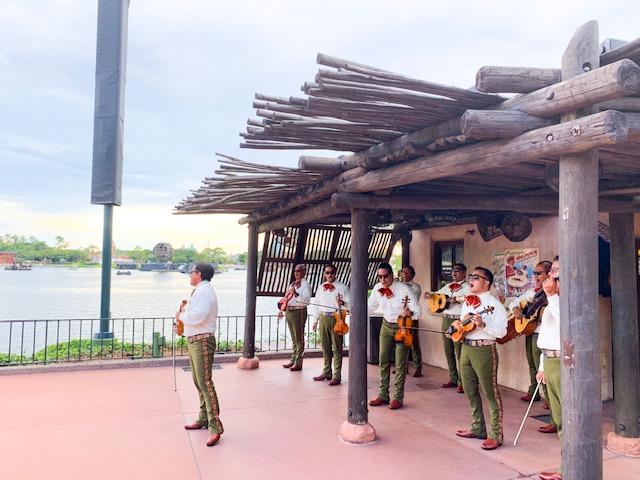 Mariachi band in Mexico Pavilion in Epcot World Showcase