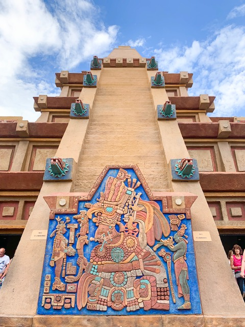 Front of the Mexico Pavilion Pyramid in the Epcot World Showcase