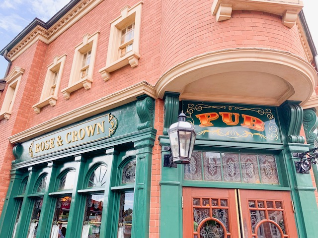 Epcot World Showcase UK front of Rose & Crown Pub