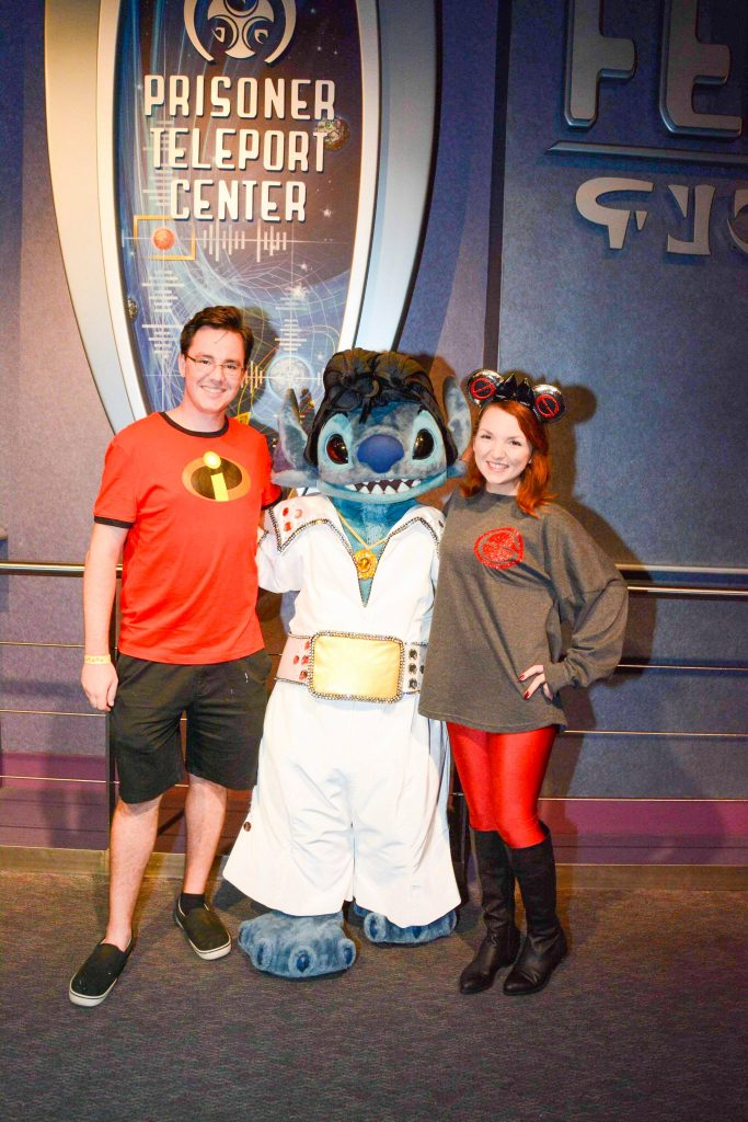 Meet and Greet with Stitch Dressed as Elvis During Mickey's Not So Scary Halloween Party