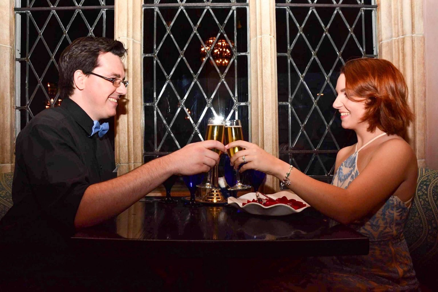 Toasting to an Engagement at Cinderella's Royal Table