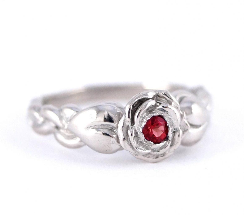 Disney Engagement Ring Red Rose