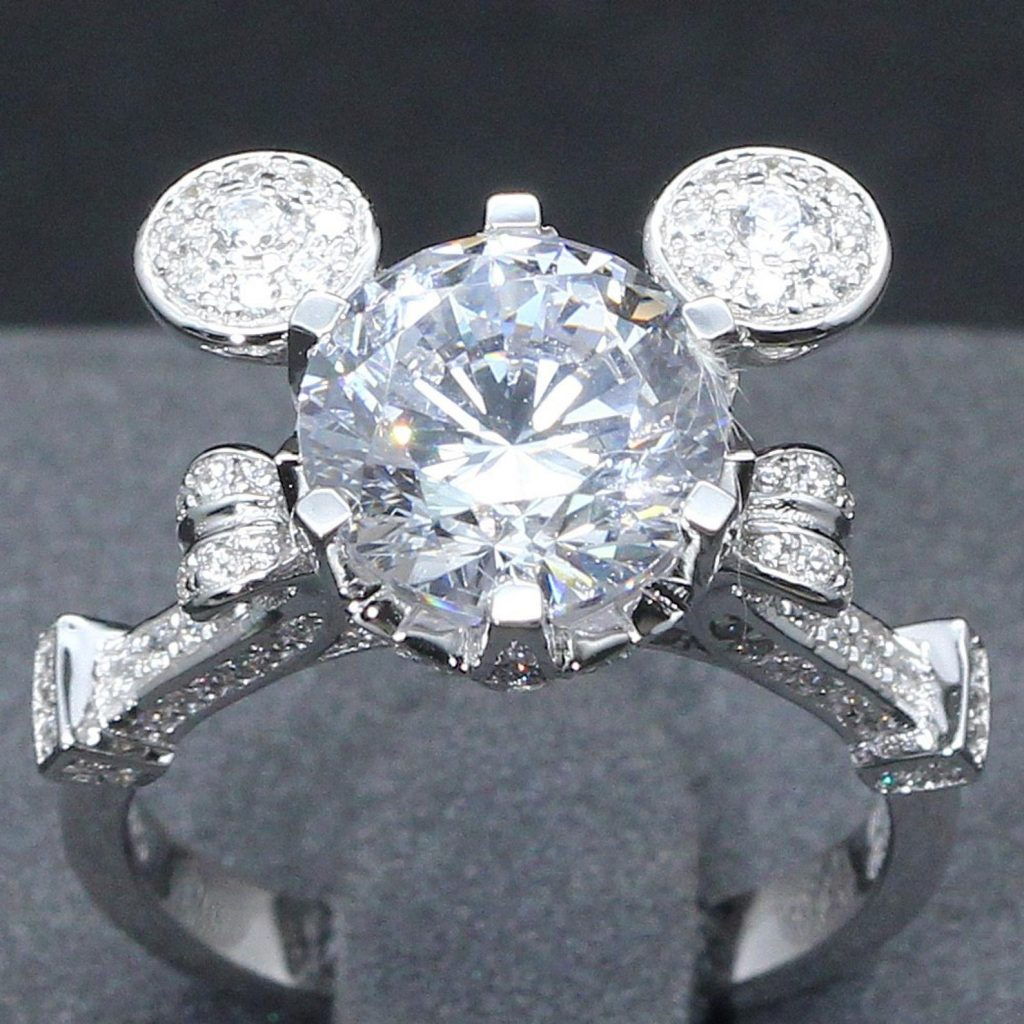 Mickey Mouse-Shaped Engagement Ring