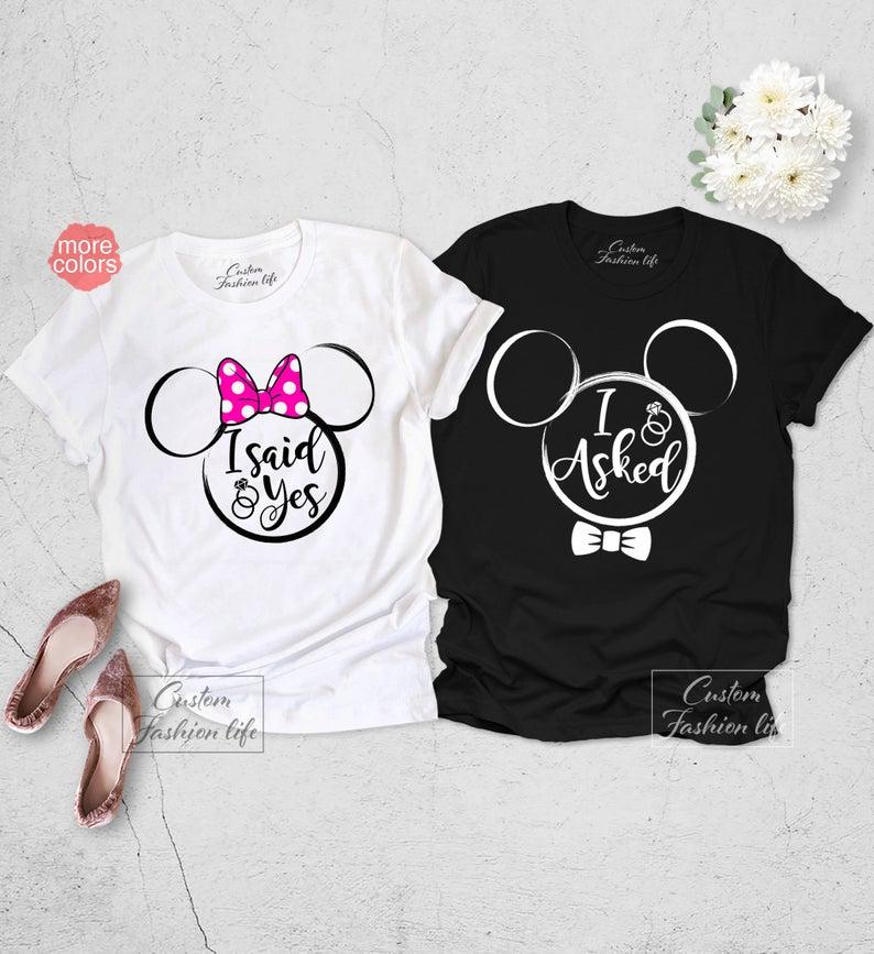 Matching set of Disney Engagement T-shirts