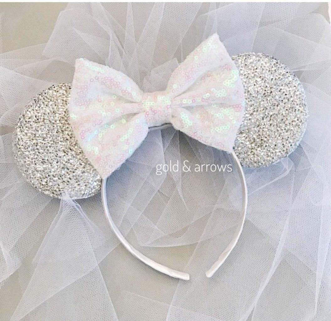 Disney Bridal Ear Headband with Veil