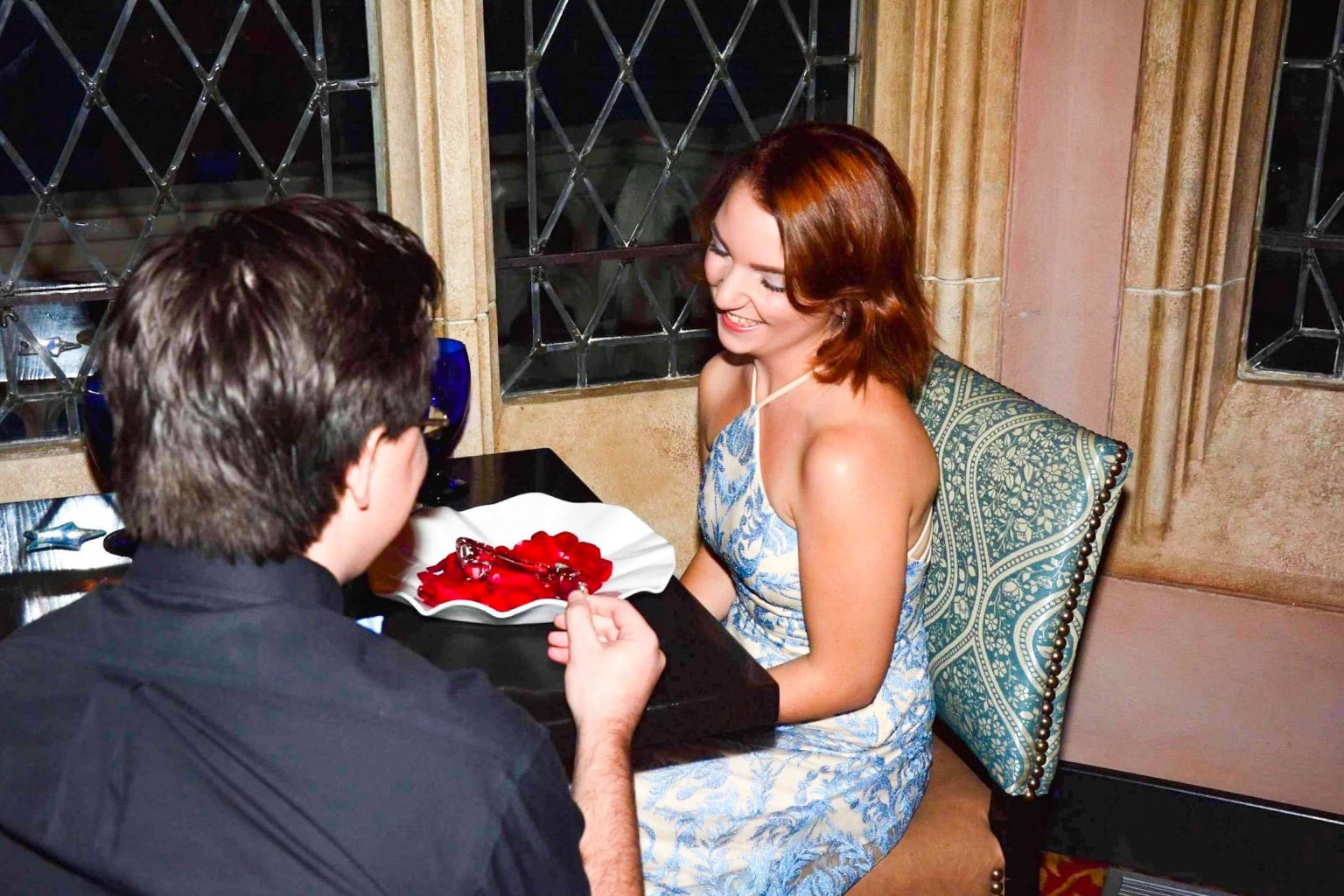 Proposal inside Cinderella's Royal Table in Magic Kingdom