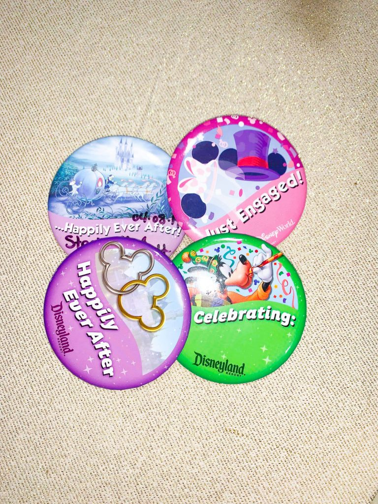 Disney Buttons for Celebrating, Engagement, and Happily Ever After