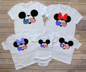 patriotic fourth of July Disney Family Shirts