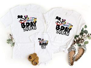 Disney Family Shirts celebrating birthday