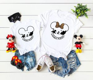 Mickey ear shirts with Lion King characters Disney Family shirts